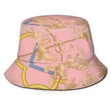 Женская шляпка для походов noisydesign летняя розовая от солнца