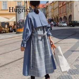 Spring Autumn Long Trench Coat