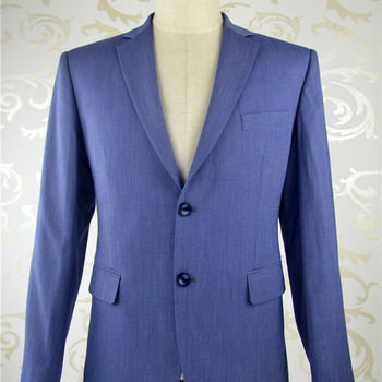 Tailor made Man Blue classic suits CUSTOM MADE MEASURE mens double breasted Jacket Pants mens slim fit wool suit gucci made to measure