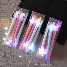 4 шт./кор. светильник гелевая ручка фантазийные Цветной Пони единорог с милым медведем, подарки канцелярские офисные школьные принадлежности, блокноты