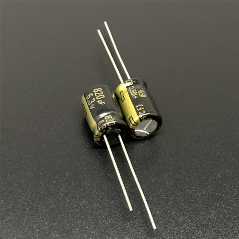 10pcs 820uF 6.3V FJ Series 8x11.5mm Low ESR 6.3V820uF Motherboard Capacitor