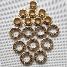 6.5 mm DIY round rhinestone grommets 500 sets/lot crystal glass diamond eyelets