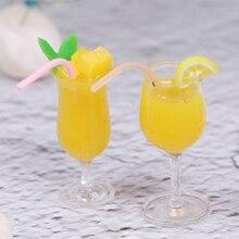 Model-Toy Dollhouse-Ature-Accessories Water-Cup Milk-Tea Mini 1/12 Decoration Lemon Drink-Pearl