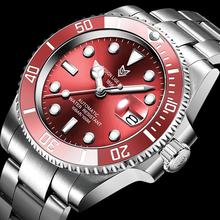 2021 LIGE zegarek biznesowy mężczyźni automatyczny mechaniczny Tourbillon zegar moda 316L stali nierdzewnej 100 zegarki wodoodporne sportowy zegarek tanie tanio 10Bar CN (pochodzenie) Składane bezpieczne zapięcie Moda casual Samoczynny naciąg 22cm STAINLESS STEEL Odporna na wstrząsy