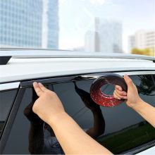Bande de protection de porte de voiture, garniture de moulage en Chrome noir, bandes de protection de fenêtre miroir pare-choc corps Anti-Collision PVC Chrome ligne de moulage bande de voiture