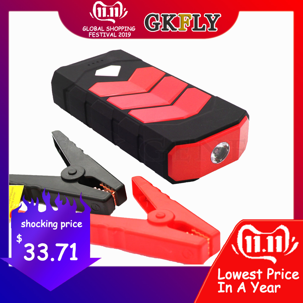 GKFLY High Power Starting Device 20000mAh Car Jump Starter Power Bank 12V 400A Petrol Diesel Car Charger For Car Battery Booster