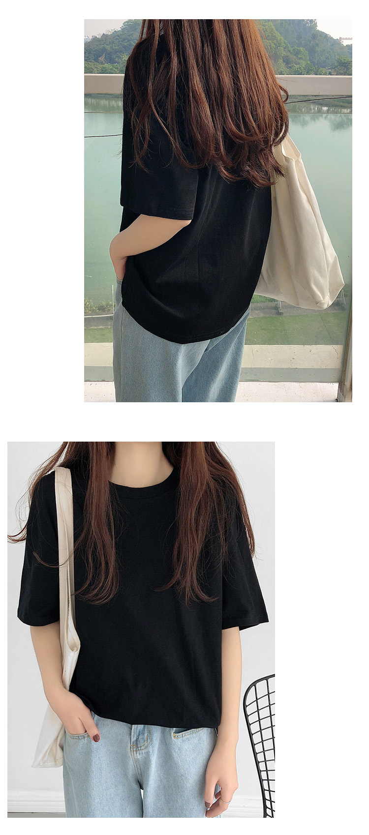 H0024bb73d2394bd69de828b4f60508eb9 - Summer O-Neck Short Sleeves Minimalist Loose Basic T-Shirt