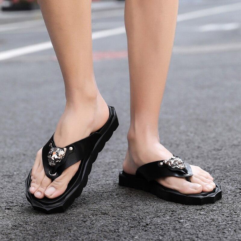 chinelos de luxo praia sandálias casuais verão