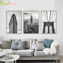Grey Building Nordic Poster Landscape Wall Art Canvas Painting Modern Picture Posters Pictures For Living Room Unframed