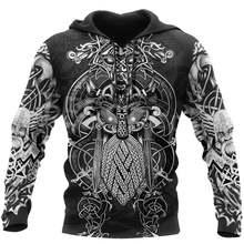 Tessffel viking тату красивый рисунок 3d принт спортивный костюм