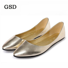 Boat Shoes Women Flats Spring Pointed-Toe Comfort Large-Size Casual Fashion Summer Solid