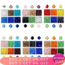 600pcs wholesale 4mm Glass Bicone Beads Crystal beads Faceted Austria 5238 bead embroidery for Jewelry making Best Selling Color
