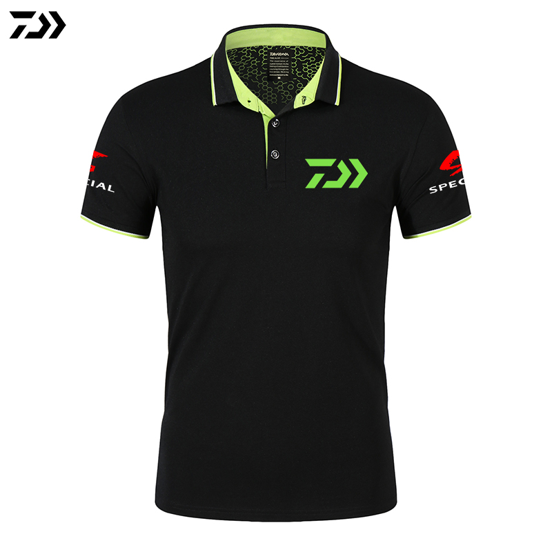 Daiwa Fishing Clothing Fishing POLO Quick-Drying Breathable Fishing Tshirt Anti-UV Sun Protection Short Sleeve Fishing Clothes