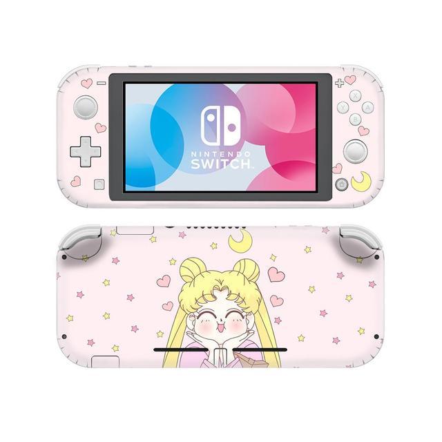 Adesivo de pele para nintendo switch, capa decalque de anime sailor moon nintendo switch lite