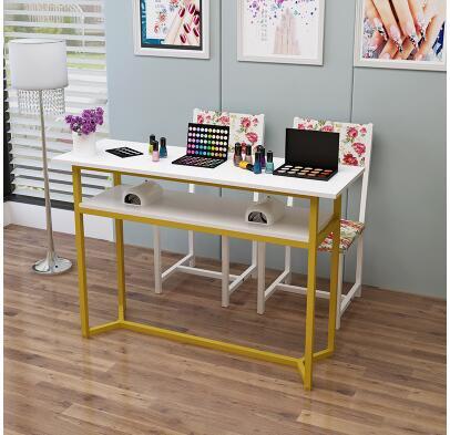 Маникюрный Стол одинарный и двойной маникюрный магазин стол специальный выгодный экономичный контракт современный стол для маникюра и Набор стульев - Цвет: 100cm
