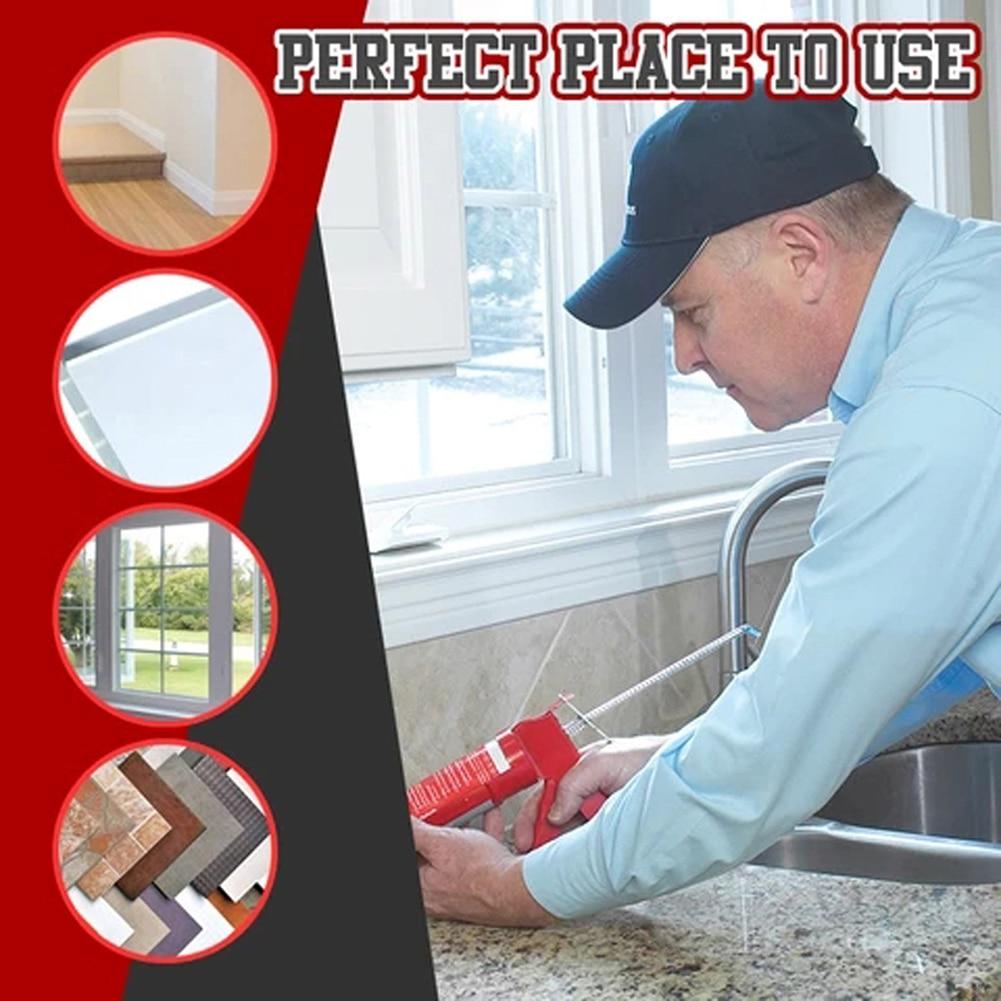 14Pcs Caulking Finisher Caulk Nozzle Applicator Stainless Steel Sealant Finishing Tool Kit Kitchen Bathroom Window Sink Joint A9