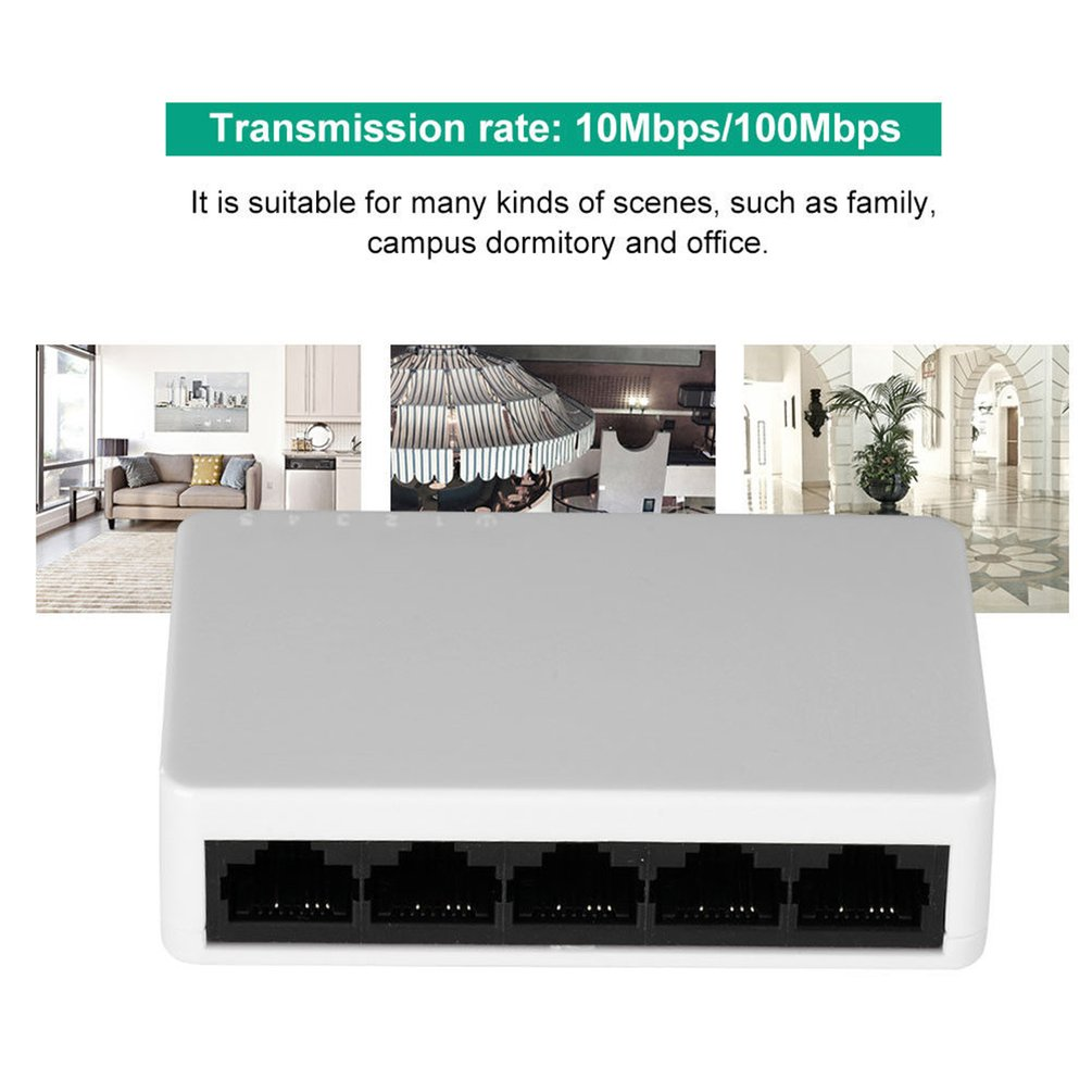 5Port Gigabit Switch Ethernet Smart Switcher High Performance10Mbps/100Mbps Ethernet Network Switch RJ45 Hub Internet Splitter 5