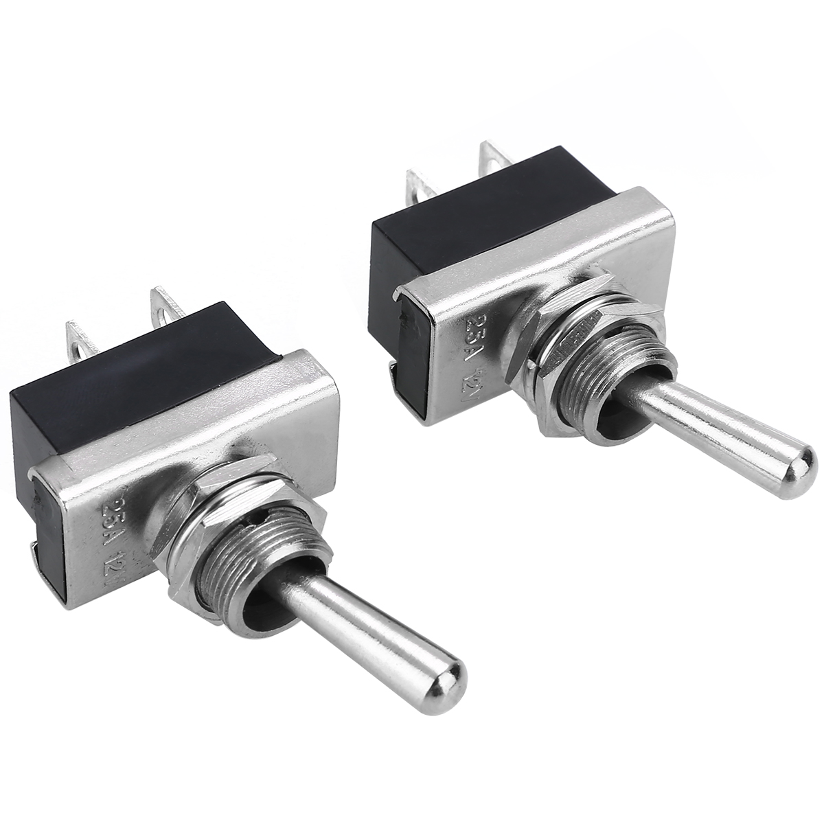 2pcs Heavy Duty Toggle Mechanism Flick Switch 12V 25A Waterproof Toggle Switches Auto Boat Marine Use