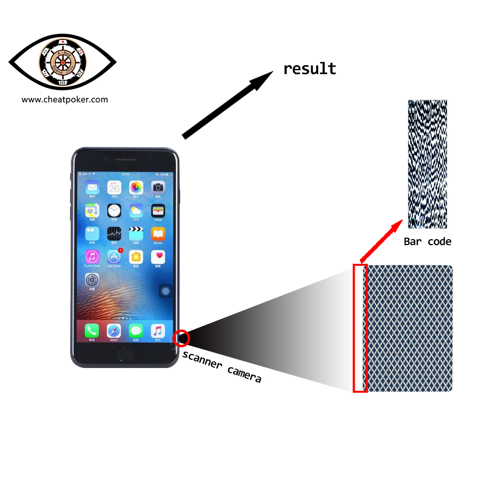 Marked Cards CVK680 Mobile Phone Analyzer Device, Scan Barcode Marked Magic Anti Gamble Cheating Playing Cards