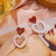 to hollow out the new pearl pendant earrings love sweet temperament drops of nectarine heart stud earrings ear clip ancient ways the new 2019 noble elegant circle mesh hollow out long tassels of pearl earrings earrings and collars