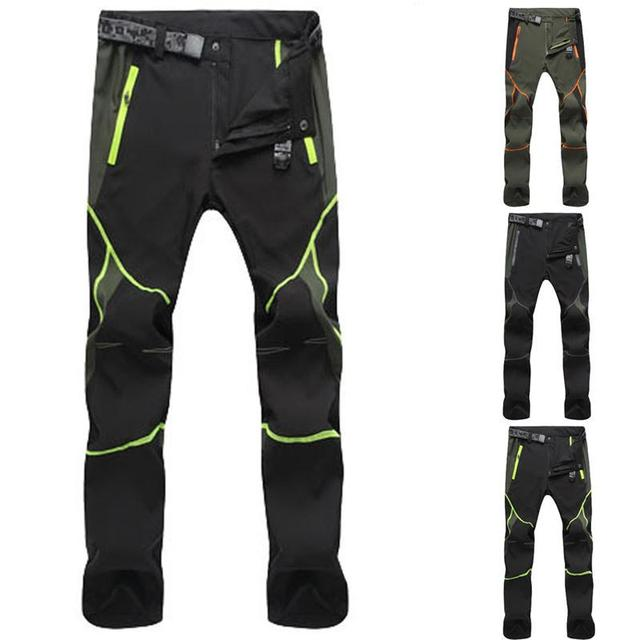 Summer Hiking Pants for Men Quick Drying Outdoor Workwear Men Clothing Color Stitching Climbing Pantalon Windproof Men's Pants 2