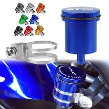 Universal motocicleta freio fluido reservatório tanque de embreagem óleo copo fluido para yamaha dt125r dt125re dt125rr 2000 2001 2002 2003 2007