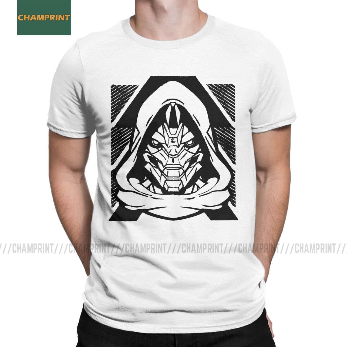Lost Hunter IV Destiny Men T Shirts Ace Spades Cayde 6 Game Casual Tees Short Sleeve Round Collar T-Shirt Cotton Summer Tops