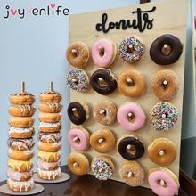Wooden Donut Wall Stand Doughnut Holder Baby Shower Kid Birt