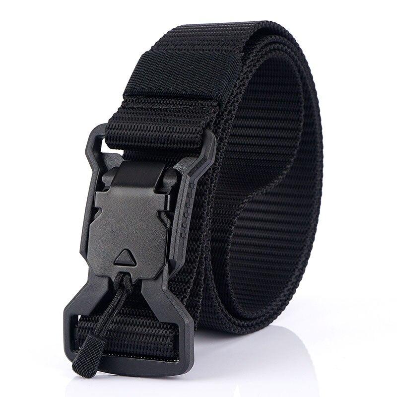 3.2cm Width New Men Belt Tactical Designer Belts For Jeans Trousers Emergency Survival Nylon Magnetic Buckle Army Belt Hunting
