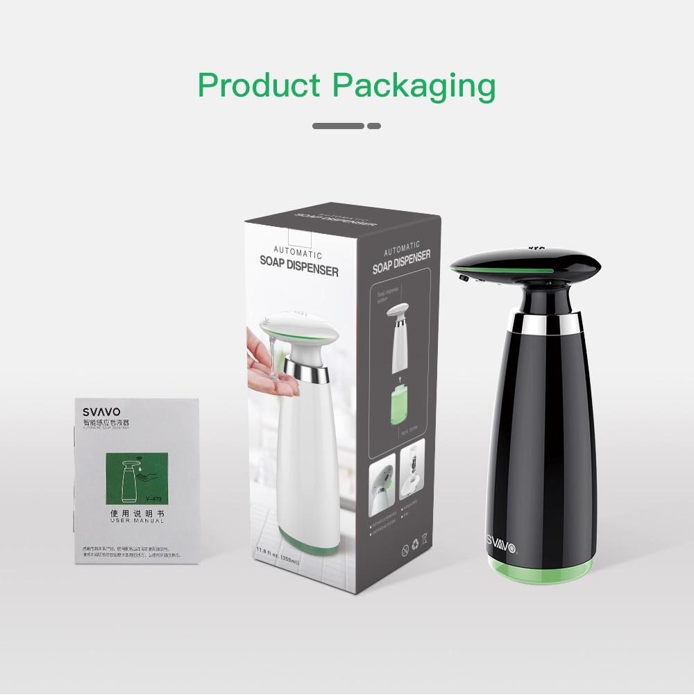 H0026c338266f45dda6eb444981327837u SVAVO 350ml Automatic Soap Dispenser Infrared Touchless Motion Bathroom Dispenser Smart Sensor Liquid Soap Dispenser for Kitchen