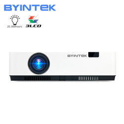 BYINTEK K500 3LCD Smart WIFI 300inch 3D 4K Full HD 1080P Video Projector for Home Theater Cinema Education Meeting Advertise