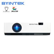 BYINTEK K500 3LCD akıllı WIFI 300 inç 3D 4K Full HD 1080P Video projektör ev sinema eğitimi için (isteğe bağlı Android 10 TV kutusu)