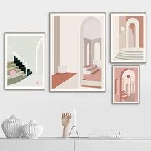 Геометрическое строительство абстрактное искусство холст плакат