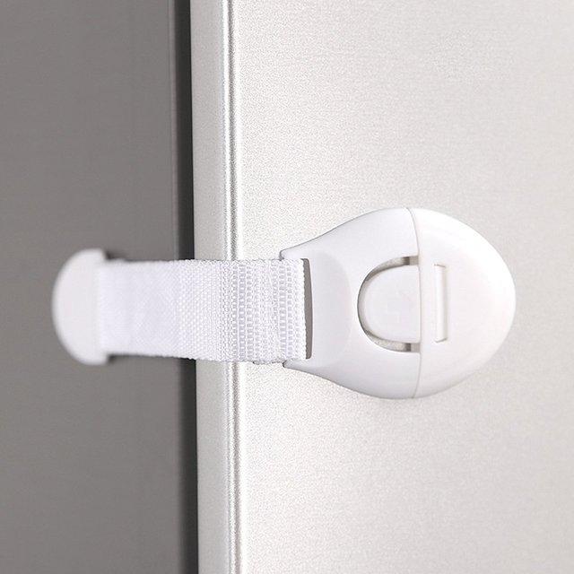 Baby Safety Lock Drawer Lock Multi-function Protection Baby Refrigerator Lock Children Long Cabinet Door Lock 4