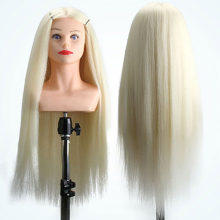 Professional Hairdressing Dolls Head Female Mannequin With  Shoulder Styling Training 60% Animal Hair