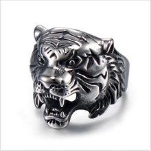 2020 новое кольцо из нержавеющей стали с головой тигра для мужчин