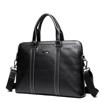 Fashion Luxury Men Bag Genuine Leather Handbag Shoulder Bags Business Men Briefcase Laptop Bag