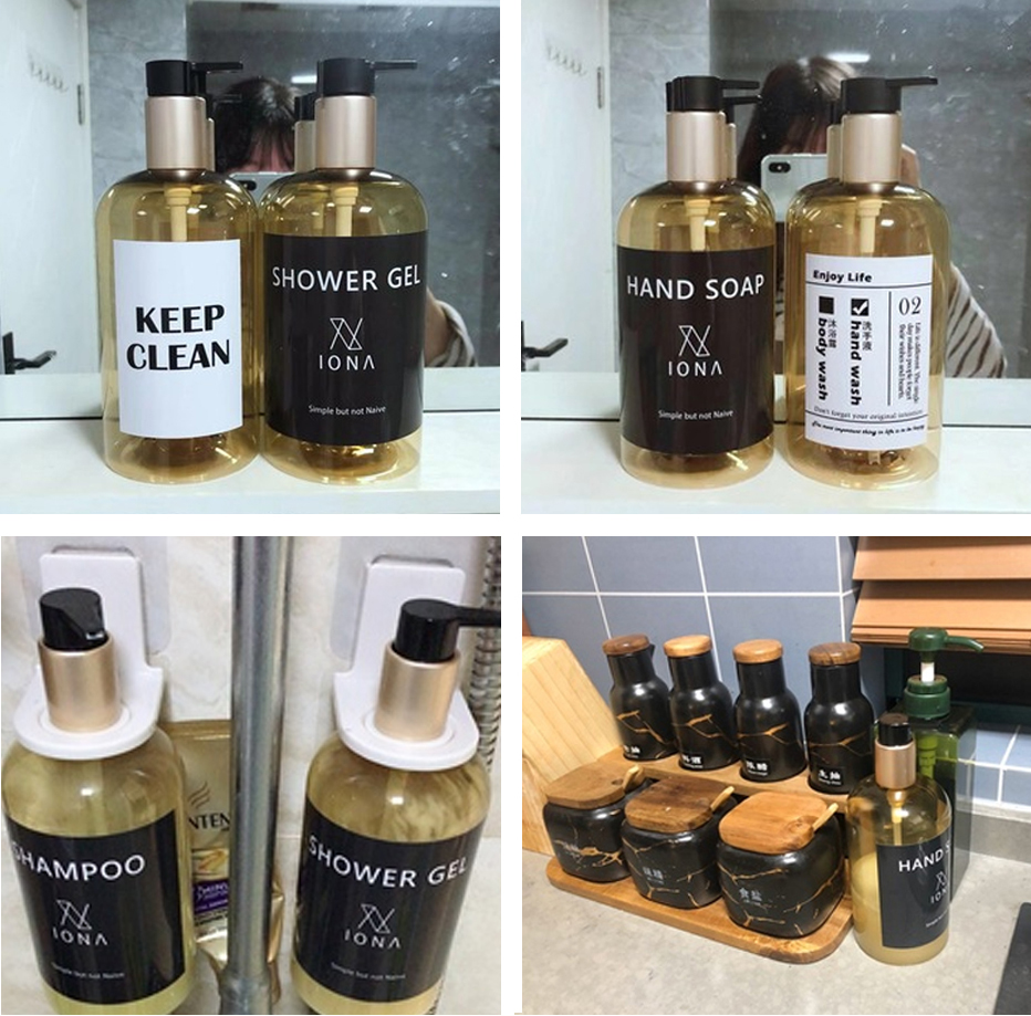 H00271fa8649a4b7198baa18a9b8b4b378 Soap Dispenser Bottle Kitchen Hand Sanitizer Bottle Cosmetics Shampoo Body Wash Lotion Bottle Outdoor Travel Tools