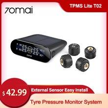 70mai-sistema de supervisión de presión de neumáticos Tpms para coche, pantalla LCD, Sensor de presión de alarma de neumáticos para coche, presión máxima de 8 Bar, fácil instalación