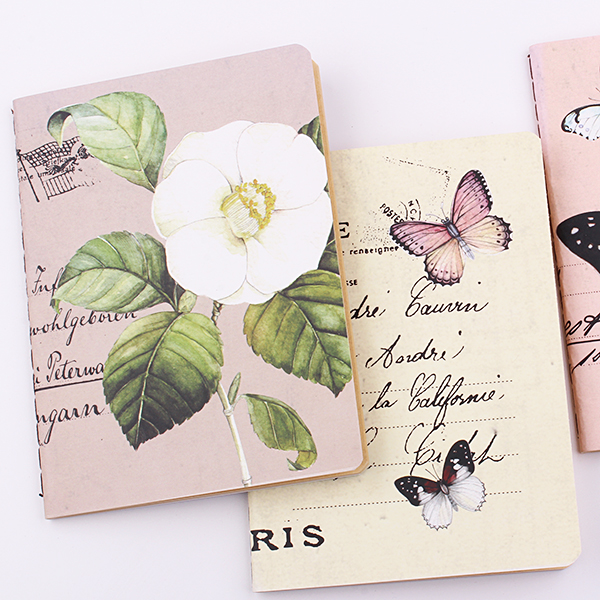 1PC 64k Stylish Butterfly Notebooks 48 Pages School Notes Stationery Diary Notepad Gift Kids Supplies (ss-1730)
