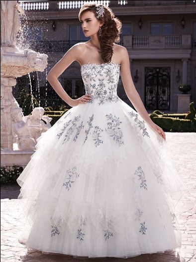 Casamento Bride Dress Bridal Ball Gown Vestido De Noiva 2016 New Hot Sexy Fashionable Appliques Long Wedding Dress Free Shipping