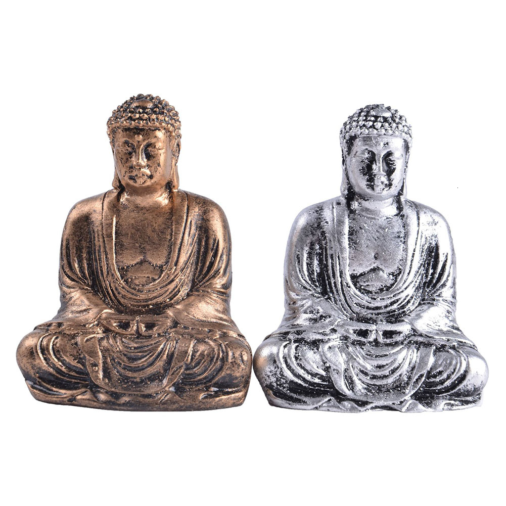 Mini Harmony Innovative Exquisite Buddha Statue Resin Valuable Sculpture Meditating Antique Style Home Decor Ornament Decoration