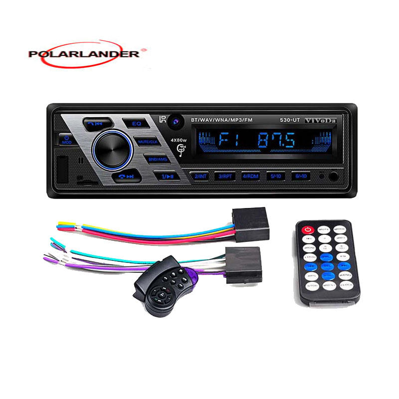 1 Din Car Stereo 12V Aux-in Support USB/SD/MMC Card Reader Bluetooth Car Radio OLED color Screen FM Turner Car MP3 Player AUX image