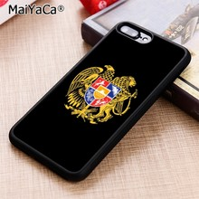 MaiYaCa Armenia flag Black Phone Case Cover For iPhone 5 6 7 8 plus 11 pro X XR XS max Samsung S6 S7 edge S8 S9 S10(China)
