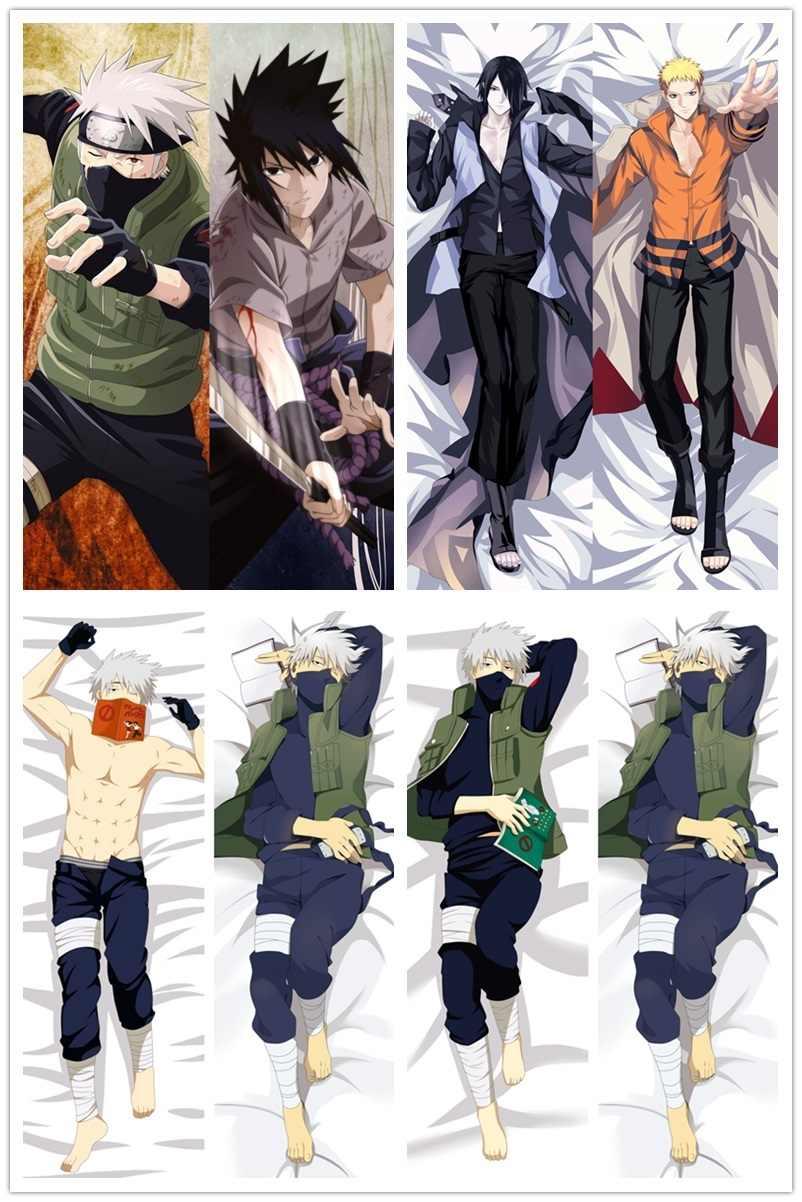 """59/"""" Naruto Dakimakura Hatake Kakashi Anime Boy Hugging Body Pillow Case Cover"""