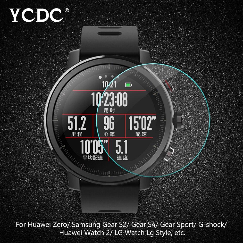 Закаленное стекло для смарт-часов, защитная пленка для экрана всех размеров, диаметр 34, 35, 36, 38, 39, 40, 42, 45, 46 мм
