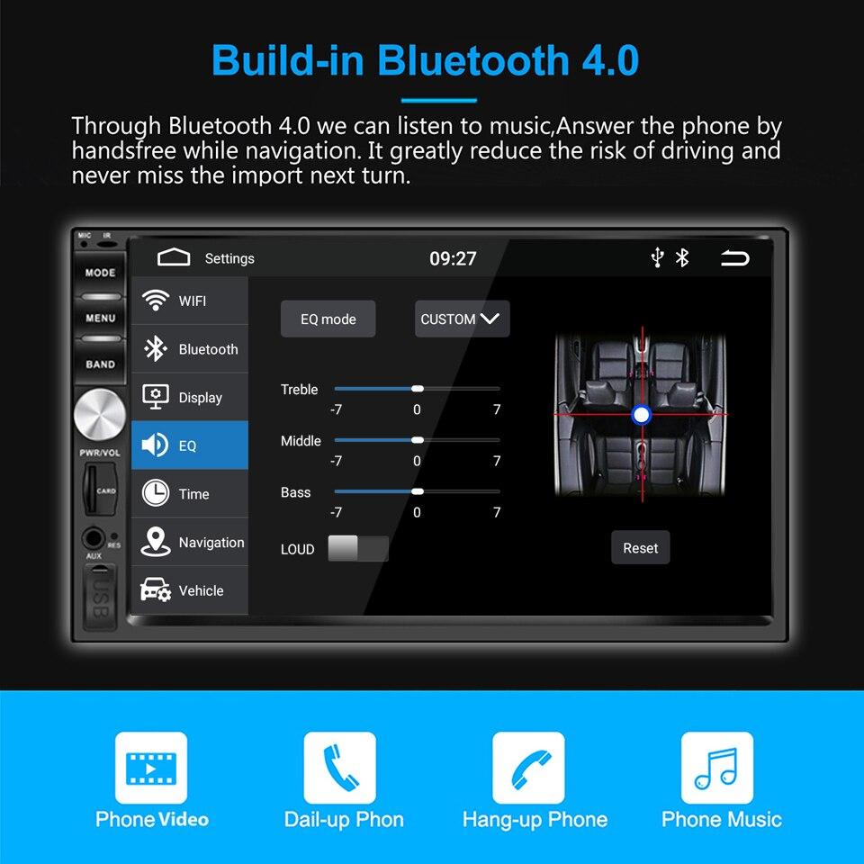 Panlelo 2 Din автомобильное радио Android 9 GPS плеер 7 дюймов Авторадио встроенный Wifi RDS Android 9,0 Радио 2G RAM для Honda Hyundai