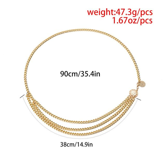 Retro Chain Belts for Women Fashion Waistbands All-match Multilayer Long Tassel for Party Jewelry Dress Waist Chain Pendant Belt