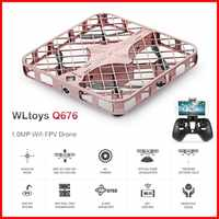 WLtoys Q676 Flycool 1.0MP Wifi FPV Drone Optical Flow Positioning Altitude Hold One Key Return RC Quadcopter Drone Toys