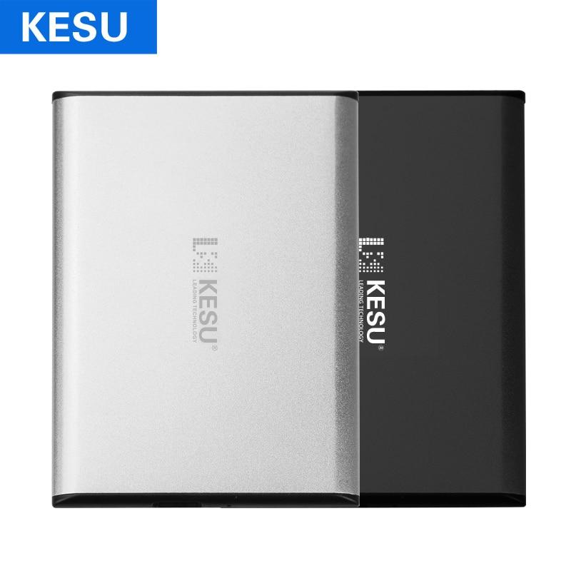 Disco rígido externo portátil fino de kesu disco rígido externo usb3.0 disque dur externo para pc, mac, tablet, xbox, ps4, caixa de tv